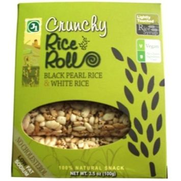 Jayone J1 Crunchy Rice Rolls Black Pearl Rice and White Rice, 3.5-Ounce Packages (Pack of 12) ( Value Bulk Multi-pack)