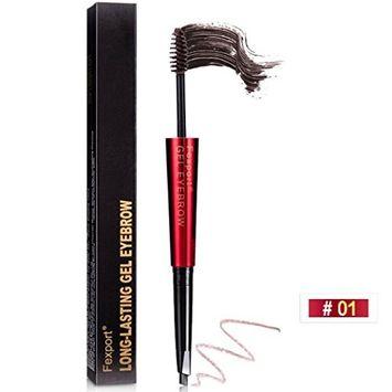 Eyebrow Pen,DEESEE(TM) 2 in 1 Waterproof Multifunctional Waterproof Anti-perspiration Double-headed Pencil + Brush Pigment Makeup Kit Powder