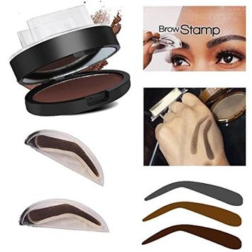 Eyebrow Powder,DEESEE(TM) Natural Eyebrow Powder Makeup Brow Stamp Palette Delicated Shadow Definition (Style B, Brown)