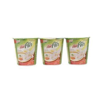Knorr Cup Instant Rice Porridge Chicken Flavor 35g. Pack 3 Cup