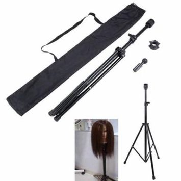 Adjustable Metal Mannequin Wig Head Stand Trip od Stand for Hair Salon Cosmetology with Lightweight Carry Bag