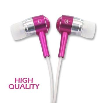 Vibe 177100 Noise Isolation HQ Metal Earbuds - Pink
