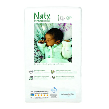 Nature babycare Eco Diapers 160 ea Size 1