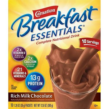 Carnation Breakfast Essentials Instant Breakfast Rich Milk Chocolate 10ct 2 pack