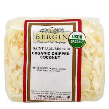 Bergin Fruit and Nut Company, Organic Chipped Coconut, 6 oz (170 g)