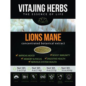 Lions Mane Mushroom Extract Powder (8oz-227gm), 20:1 Concentration (ORGANIC)