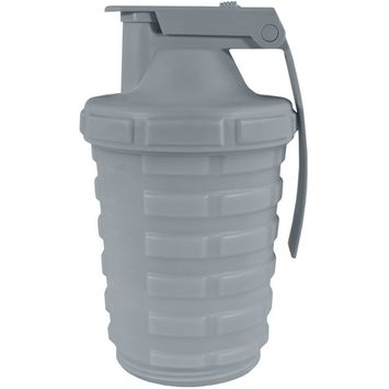 Grenade 20 oz. Shaker Blender Mixer Bottle with 600ml Protein Cup Compartment [name: actual_color value: actual_color-gunmetalgray]