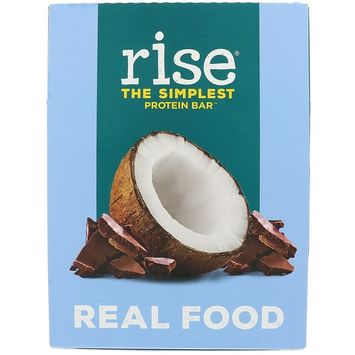 Rise Bar, The Simplest Protein Bar, Chocolatey Coconut, 12 Bars, 2.1 oz (60 g) Each [Flavor : Chocolatey Coconut]