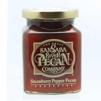 The Great San Saba River Pecan Company Strawberry Pepper Pecan Preserves