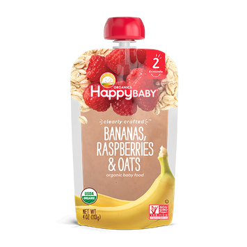 Happy Baby® Organics Clearly Crafted™ Bananas, Raspberries & Oats