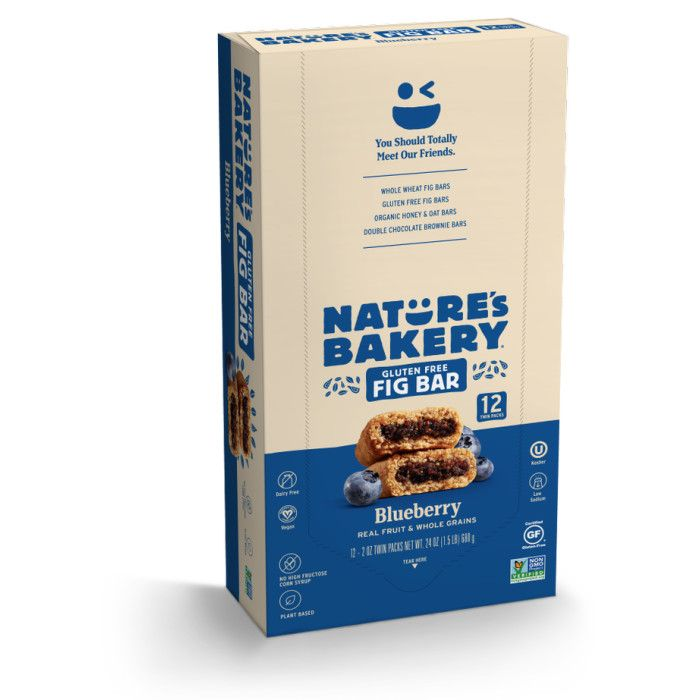Nature's Bakery Gluten Free Fig Bar Blueberry (12x2 OZ)