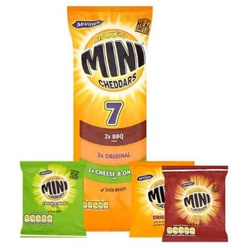 MCVITIES MINI CHEDDARS VARIETY PACK OF 7