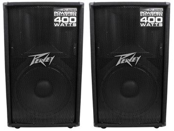 (2) Peavey PV115D 15' 800W Pro Active Powered Speakers Amplified with Class D
