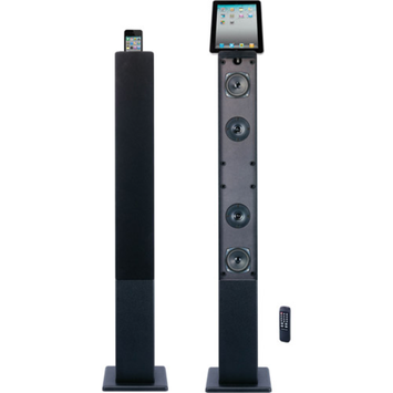 Craig 2.1 Channel Tower Speaker System with Bluetooth and Digital FM Radio, Black