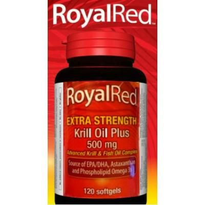 Webber Naturals Royal Red Krill Oil Plus Extra Strength 500 mg- 120 Softgels