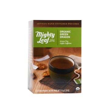 Mighty Leaf, Organic Green Dragon Stitched Tea Bags, 15 ct