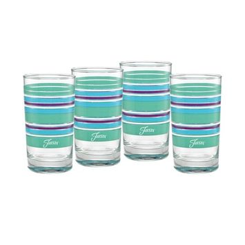 Farmhouse Chic Stripes 7-Ounce Juice Glass Set of 4