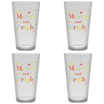 16 oz. Merry and Bright Frosted Cooler (Set of 4)