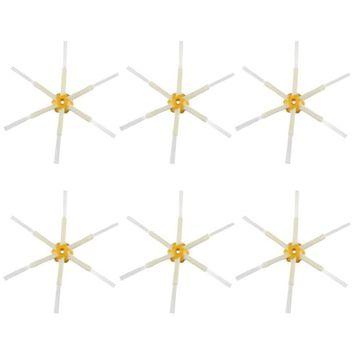 Felji 6 Pack 6-Armed Side Brushes iRobot Roomba 550 560 570 630 650 760 770