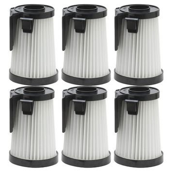 6 Pack Felji Washable HEPA Vacuum Filters for Eureka DCF-10, DCF-14, Part # 62396