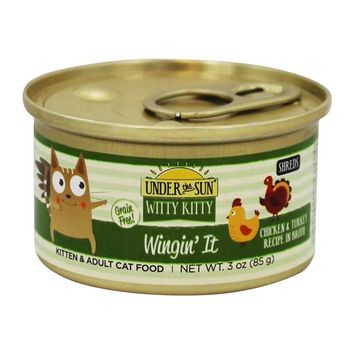 Under The Sun Witty Kitty Wingin It Canned Cat Food Chicken & Turkey in Broth - 3 oz.