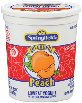 springfield® lowfat yogurt blended peach