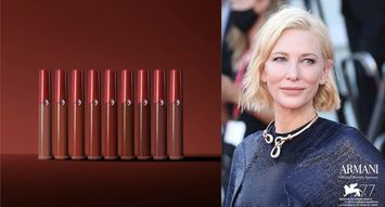 Get the Look: Cate Blanchett Debuts New Armani Lipstick