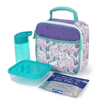 Artic Zone Unicorn Lunch Kit Combo [name: actual_color value: actual_color-unicorn]