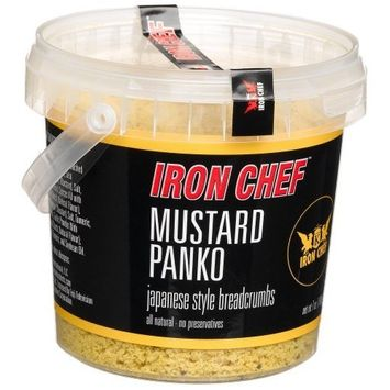 IRON CHEF Mustard Flavored Panko, Certified Kosher, 6-Ounce Buckets (Pack of 3)