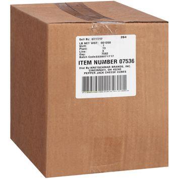 Kretschmar® Natural Pepper Jack Cheese Cubes Bag