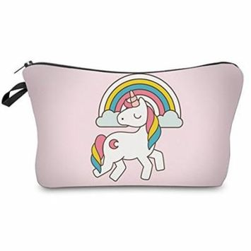 StylesILove Unique Unicorn Collection Pouch Travel Case Cosmetic Makeup Bag (Pink)