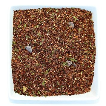 Tealyra - Chocolate Mint Rooibos - Red Bush Herbal Loose Leaf Tea Blend - Cocoa and Peppermint - Caffeine-Free - Relaxing - All Natural Ingredients - 110g (4-ounce)