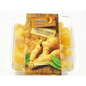 Nutty & Fruity Ginger Chunks Non-Crystallized 10 Ounces
