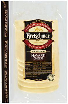 Kretschmar® Premium Deli Cheeses Sliced Havarti