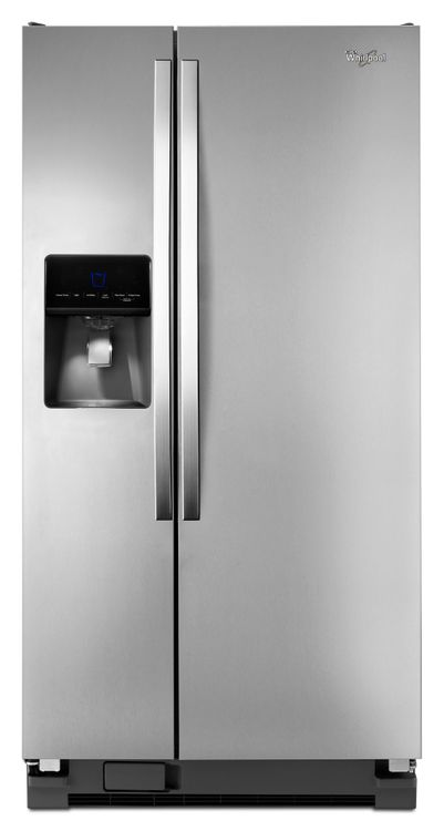 Whirlpool Monochromatic Stainless Steel Side-By-Side Refrigerator