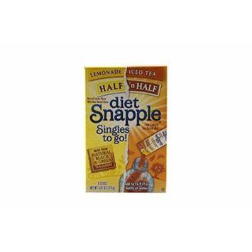 Diet Snapple Singles to Go Drink Mix – 12pk (Half 'N' Half Lemonade)