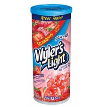 Wyler's Light Soft Drink Mix, Strawberry, 1.54-Ounce (Pack of 6)