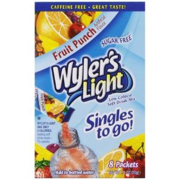 Wyler's Light Singles To Go Drink Mix, Fruit Punch, (Pack of 12)