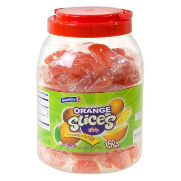 Colombina Individually Wrapped Orange Slices Gummy Candy 80 oz