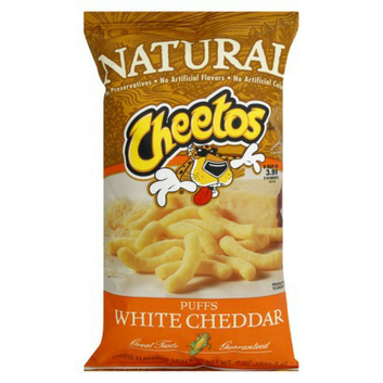 Cheetos Natural White Cheddar Puffs Cheese-Flavored Snacks