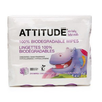 Attitude Eco-Baby Wipes Refill Pack