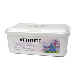 Attitude Eco-Baby Wipes Tub