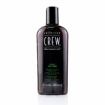 American Crew Men 3-IN-1 Tea Tree Shampoo, Conditioner and Body Wash 250ml/8.4oz Hair Care