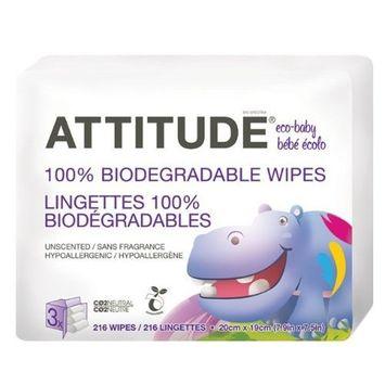 ATTITUDE Baby Wipes - 216 ct