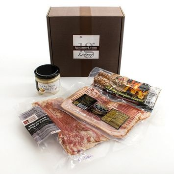 KaBloom Gift Basket Collection: The Bacon Lover's Smoked Bacon Gourmet Gift Box