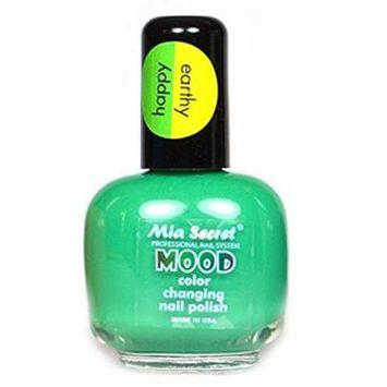 Mia Secret Mood Nail Lacquer GREEN Color Changing Nail Polish Full Size Nail Polish