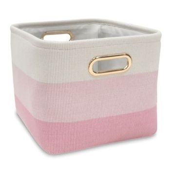 Lambs & Ivy Ombre Storage Basket Color: Pink