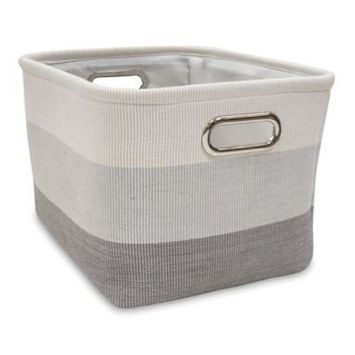 Lambs & Ivy Ombre Storage Basket Color: Gray