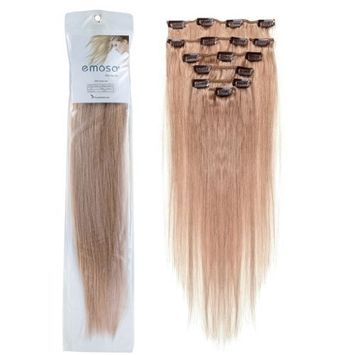 Emosa 8Pcs 90g 100% Real Full Head Remy Human Hair Clip In Extensions #27 Dark Blonde Silky Soft