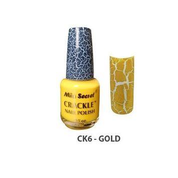 Mia Secret Crackle Nail Polish Gold 0.5oz (CK6)